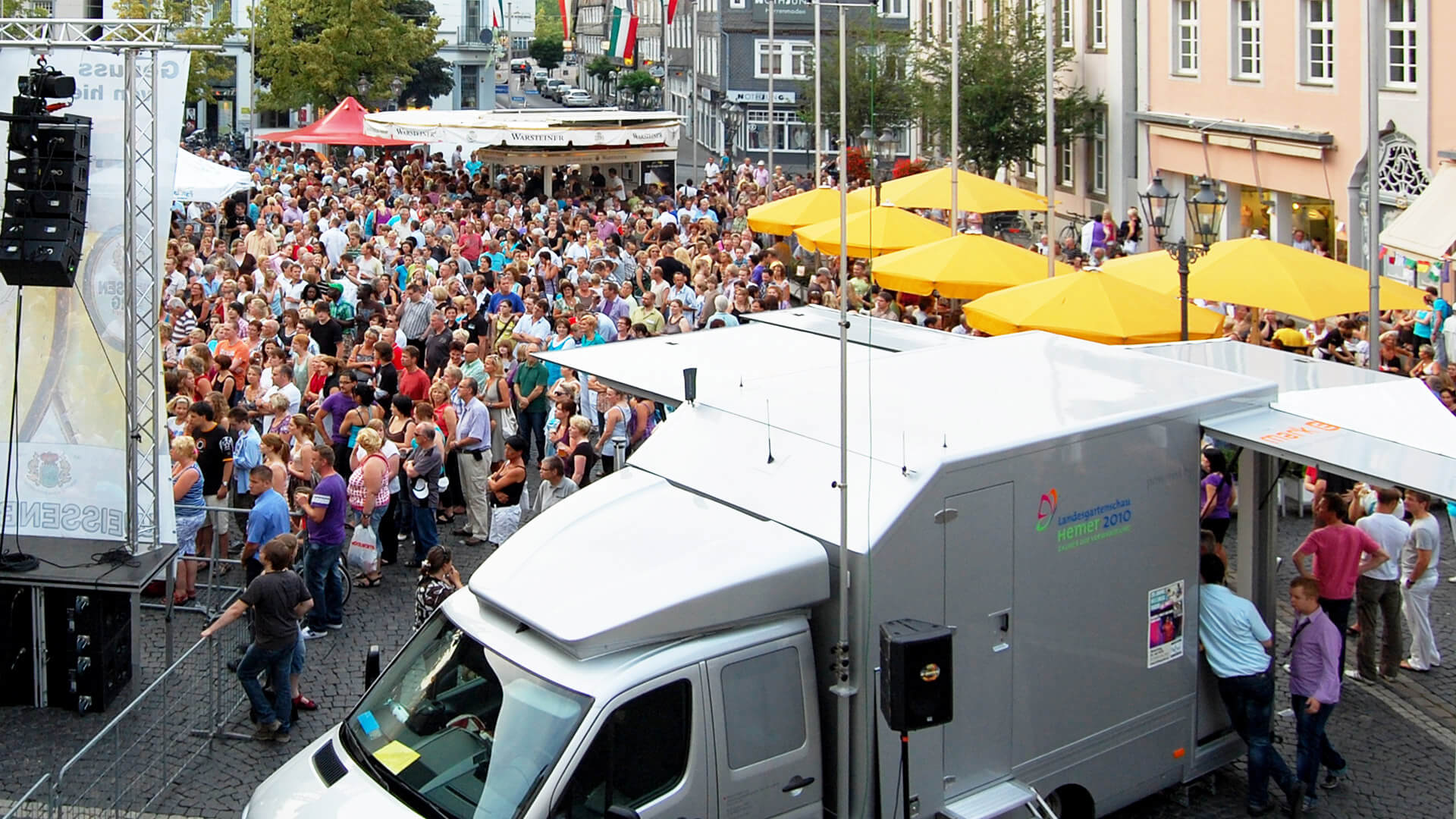 broadcast-mobil Infobus Roadshow Showtruck mobiles-Marketing