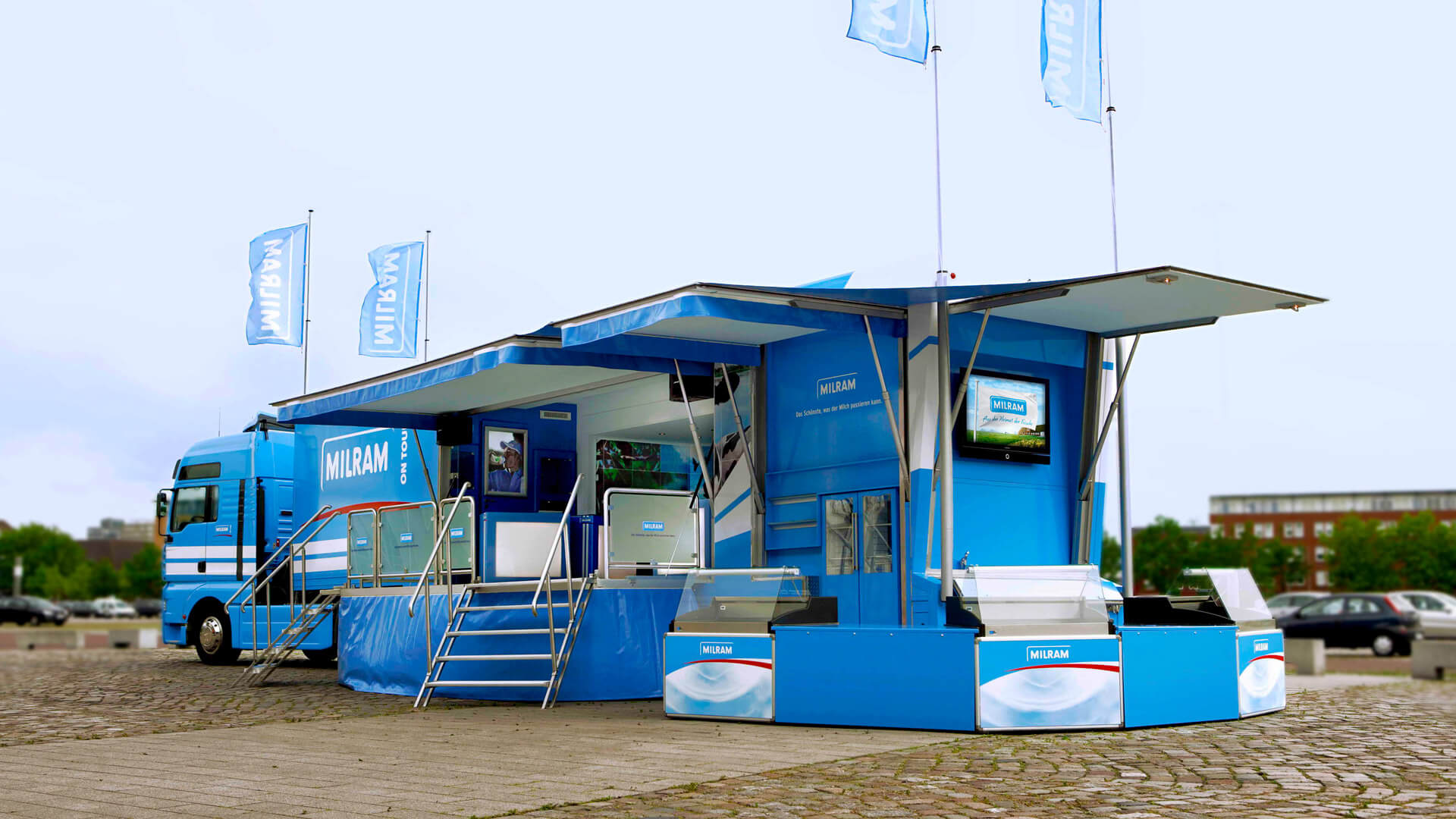 Ausstellungsfläche mobiles-Marketing Promotion Infomobil Truck Roadshow Showtruck
