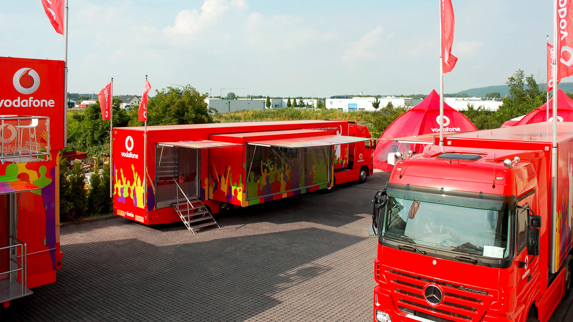 Promotion Flotte mobiles-Marketing mobile-Geschäftsstelle Infomobil Truck Roadshow Showtruck